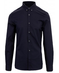 French Connection Oxford Long Sleeve Shirt Marine Blue   Jean Scene
