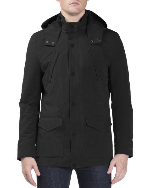 Ben Sherman Four Pocket Luxe Mac Jacket Black | Jean Scene