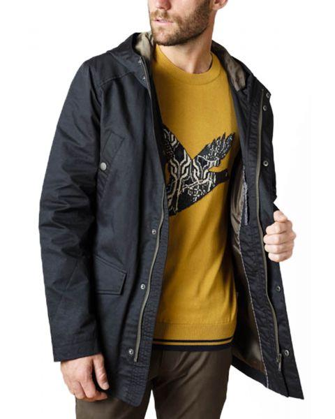 Ben Sherman Four Pocket Coated Cotton Jacket Black | Jean Scene