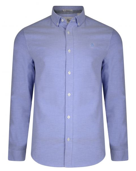 Original Penguin Oxford Shirt Long Sleeve Amparo Blue   Jean Scen