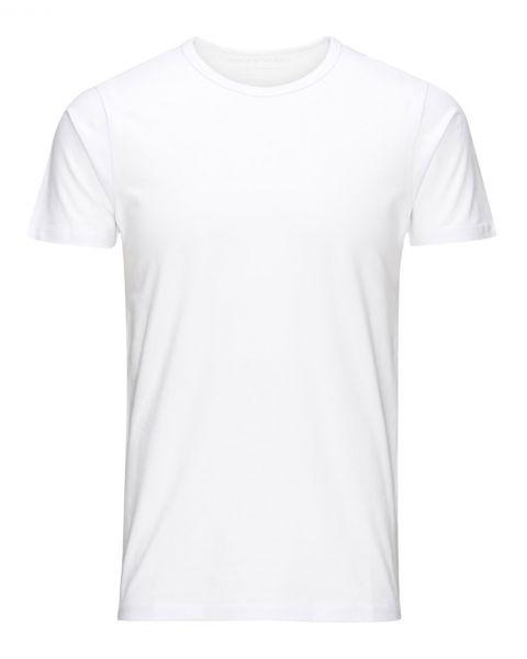 Jack & Jones Basic Crew Neck Cotton Lycra Plain T-shirt Optical White | Jean Scene