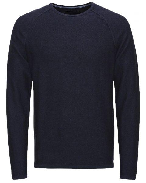 Jack & Jones Premium Men's Trevor Knit Jumper Navy Blue   Jean Scene