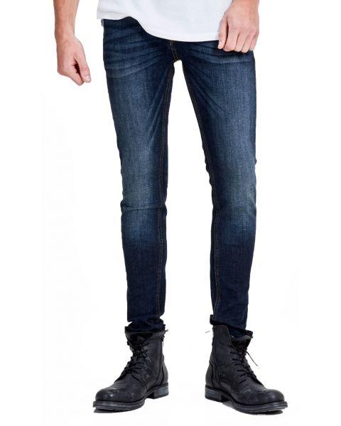 Jack & Jones Liam Original Skinny Fit Denim Jeans 014 Blue | Jean Scene