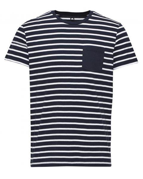 Jack & Jones Core Crew Neck Table Stripe T-shirt Navy Blazer | Jean Scene
