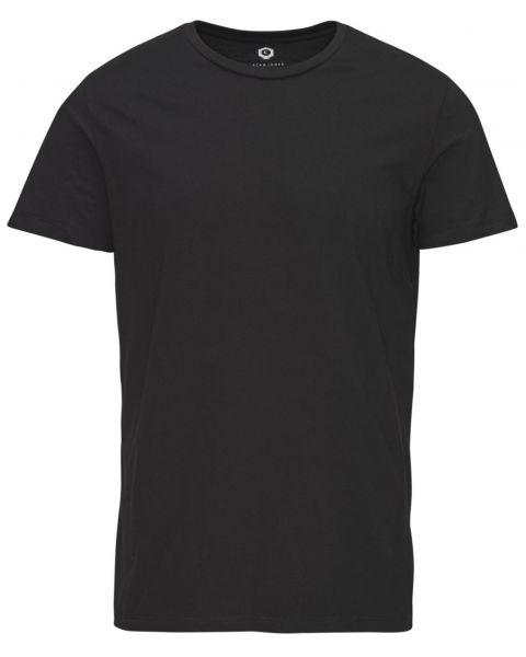 Jack & Jones Basic Crew Neck Cotton Plain T-shirt Black   Jean Scene