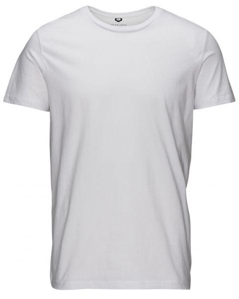 Jack & Jones Basic Crew Neck Cotton Plain T-shirt White | Jean Scene