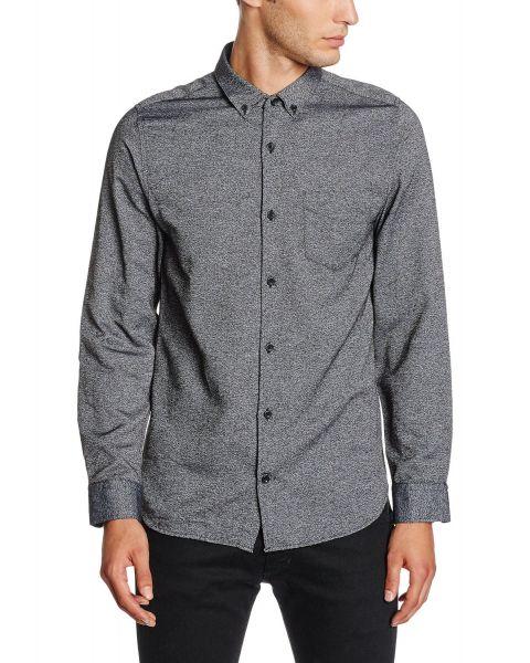 Jack & Jones Bail Plain Shirt Long Sleeve Medium Blue Blue | Jean Scene