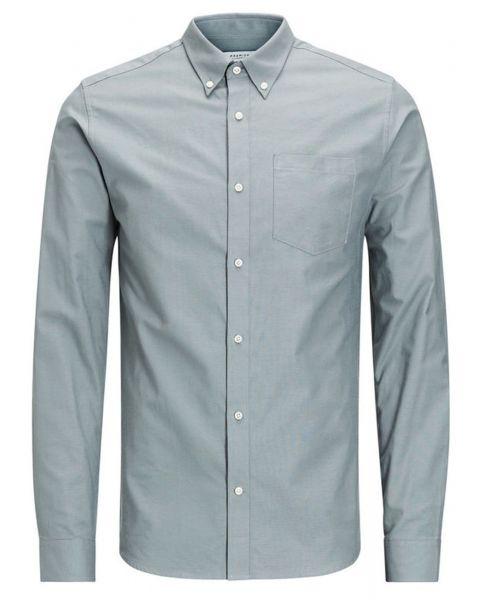 Jack & Jones Premium Jamie Shirt Long Sleeve Balsam Green   Jean Scene