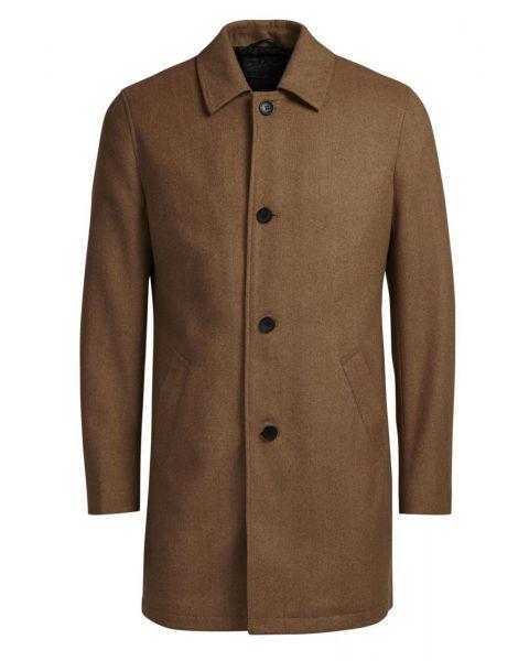 Jack & Jones Originals City Wool Blend Coat Camel   Jean Scene