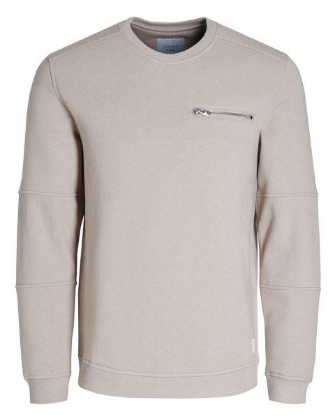 Jack & Jones Core Men's Pete Logo Sweatshirt Simply Taupe   Jean Scene