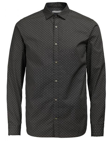 Jack & Jones Premium Jesper Shirt Long Sleeve Black   Jean Scene