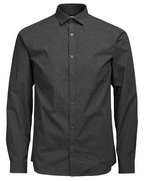 Jack & Jones Premium Jesper Shirt Long Sleeve Grey Melange   Jean Scene