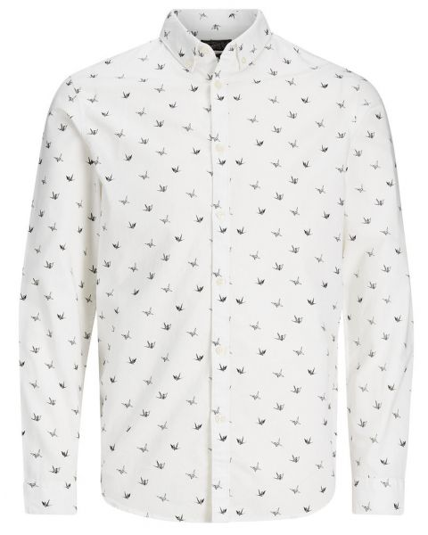 Jack & Jones Originals Choppy Shirt Long Sleeve Cloud Dancer   Jean Scene