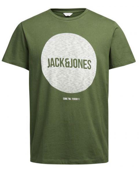 Jack & Jones Core Crew Neck Bak Print T-shirt Capulet Olive   Jean Scene