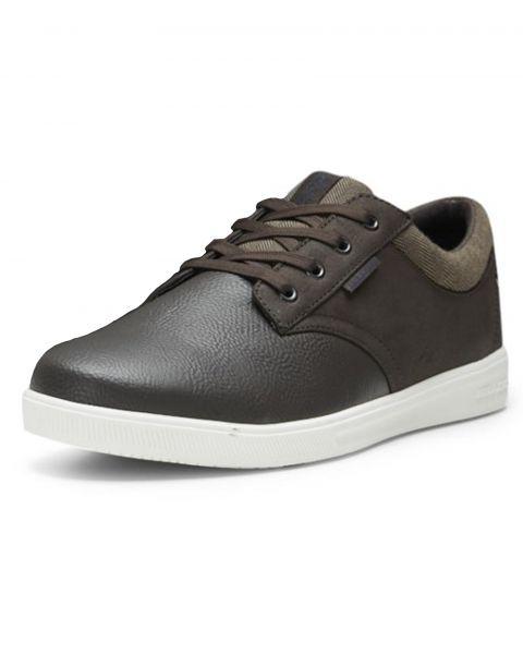 Jack & Jones Men's Gaston Low PU Leather Shoes Shoes Java Brown | Jean Scene