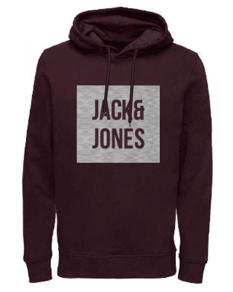 Jack & Jones Overhead Men's Bak Hoodie Fudge | Jean Scene