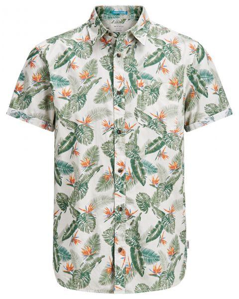 Jack & Jones Originals Regular Paka Short Sleeve Shirt Silver Birch | Jean Scene