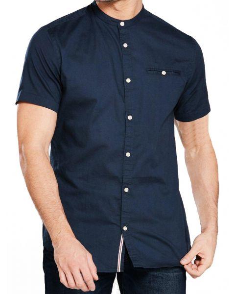 Jack & Jones Originals Slim Greg Shirt Short Sleeve Total Eclipse | Jean Scene