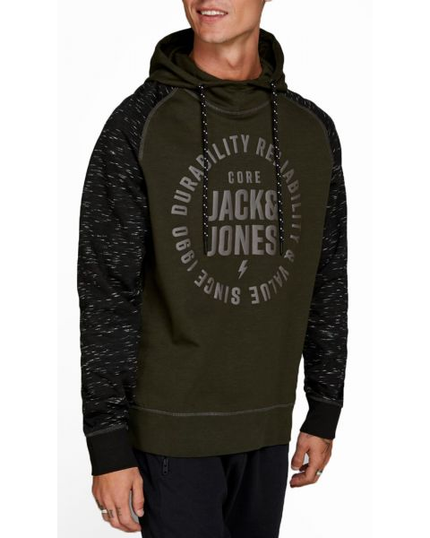 Jack & Jones Overhead Men's Marko Hoodie Rosin | Jean Scene