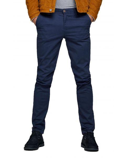 Jack & Jones Marco Stretch Slim Cotton Chinos Navy Blazer | Jean Scene