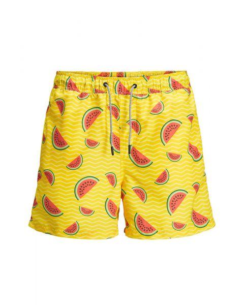 Jack & Jones Mens Mens Aruba Water Melon Swim Shorts Golden Haze | Jean Scene