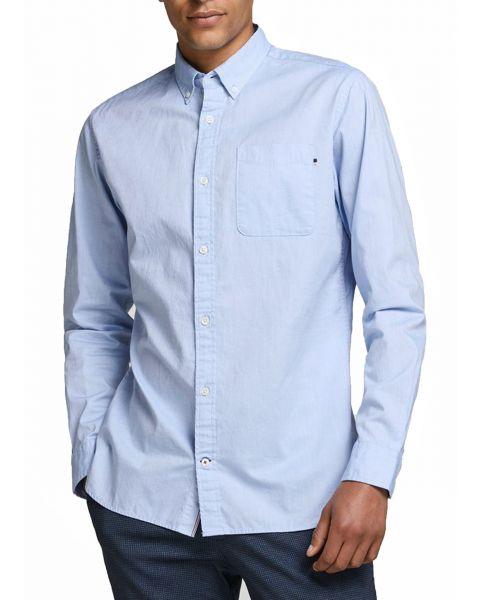 Jack & Jones Button Down Oxford Shirt Long Sleeve Cashmere Blue | Jean Scene