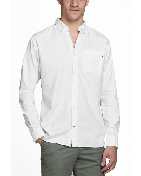 Jack & Jones Button Down Oxford Shirt Long Sleeve White | Jean Scene