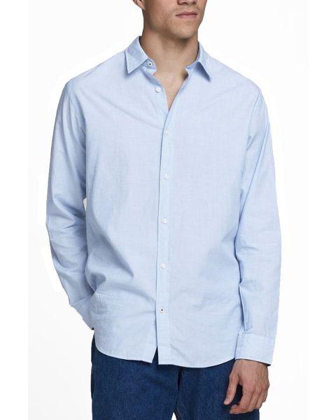 Jack & Jones Plain Poplin Shirt Cashmere Blue