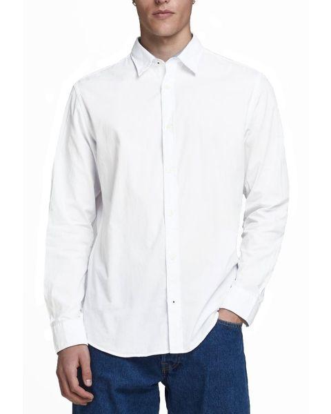 Jack & Jones Plain Poplin Shirt White