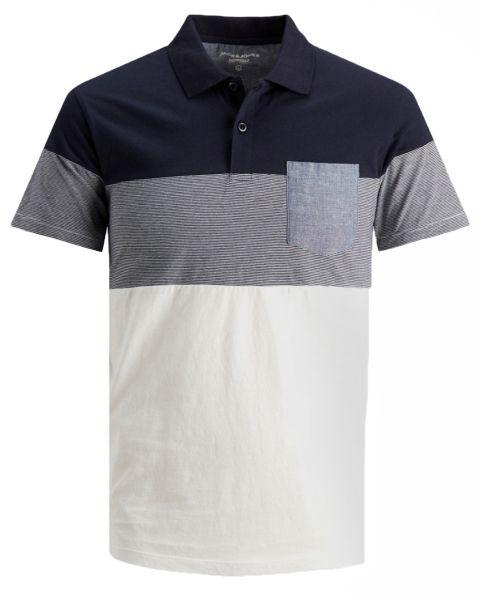 Jack & Jones Contrast Pocket Polo Shirt Navy Blazer
