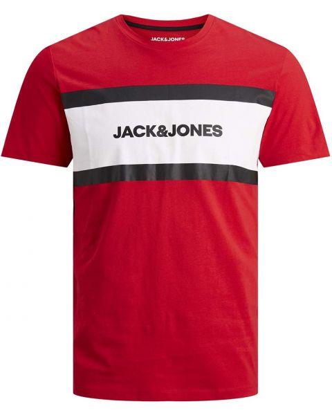 Jack & Jones Shake Print Crew Neck T-Shirt True Red