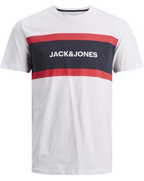 Jack & Jones Shake Print Crew Neck T-Shirt White
