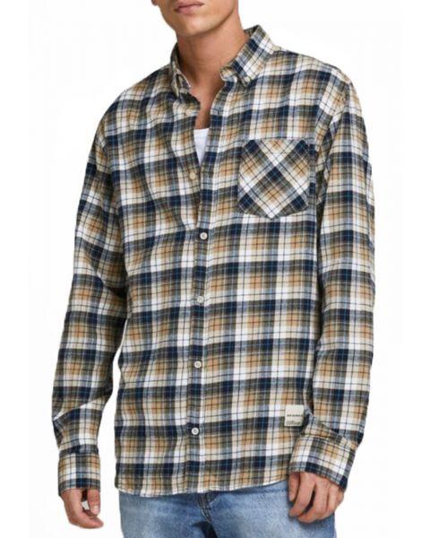 Jack & Jones Long Sleeve Check Shirt Long Sleeve Crockery | Jean Scene