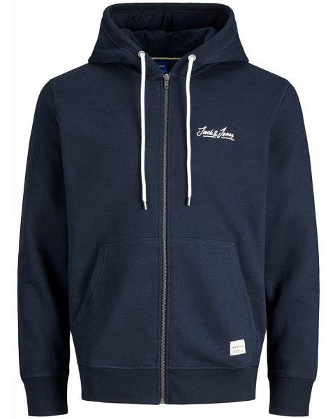 Jack & Jones Original Tons Zip Hooded Sweatshirts Navy Blazer