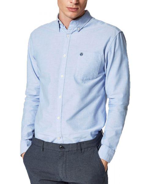 Selected Slim Collect Long Sleeve Shirt Light Blue | Jean Scene