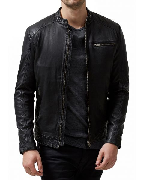 Selected Leather Jacket Black | Jean Scene