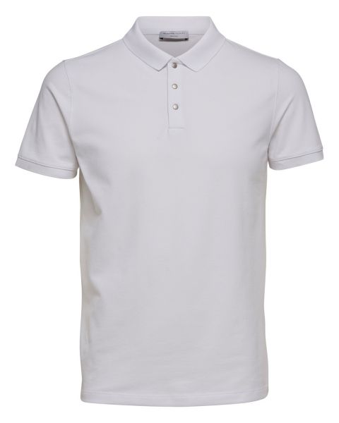 Selected Damon Polo Shirt White | Jean Scene