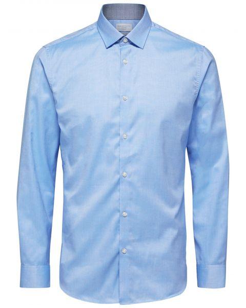Selected Slim Mark Long Sleeve Shirt Light Blue | Jean Scene