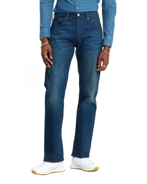 Levis 501 Denim Jeans Dark Blue Boared Tnl Blue | Jean Scene