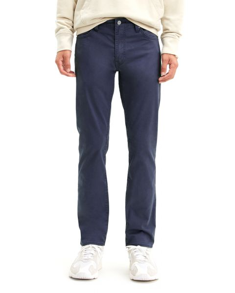 Levis 511 Soft Fabric Jeans Dark Blue Baltic Navy Sueded | Jean Scene