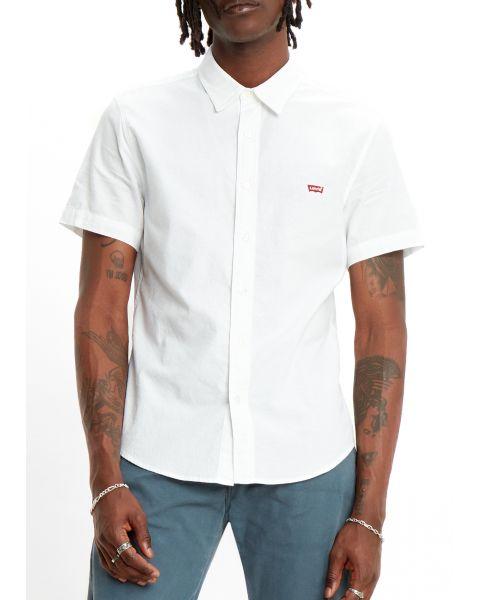 Levis HM Battery Short Sleeve Men's Shirt Slim White X | Jean Scene