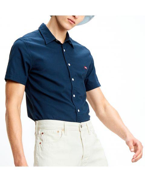 Levi's® HM Battery Short Sleeve Shirt Dress Blues
