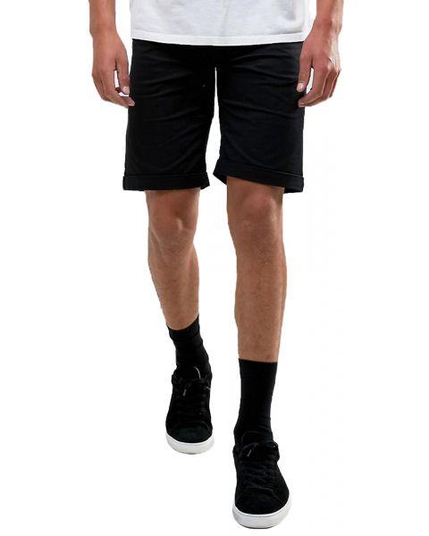Troy Men's Rick Chino Stretch Shorts Black   Jean Scene