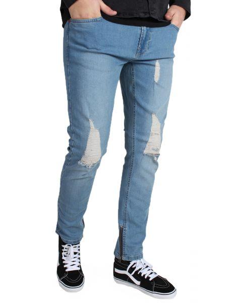 Only & Sons Warp Skinny Fit Denim Jeans 7919 Mid Blue | Jean Scene