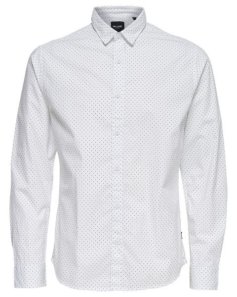 Only & Sons Originals Slim Tesla Long Sleeve Shirt White | Jean Scene