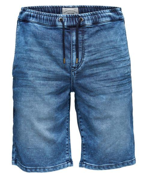 Only & Sons Men's Linus Denim Jog Shorts Blue   Jean Scene