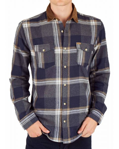 Only & Sons Morten Checked Shirt Long Sleeve Kangaroo | Jean Scene