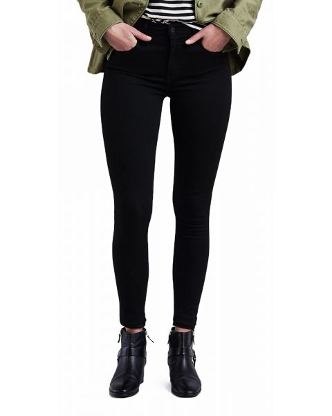 Levis 720 Women's High Rise Supper Skinny Stretch Jeans Black Celestial | Jean Scene