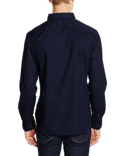 French Connection Plain Long Sleeve Shirt Marine Blue | Jean Scene