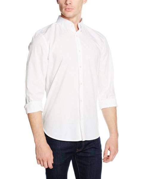 French Connection Plain Long Sleeve Shirt White | Jean Scene
